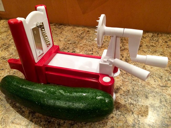 Spiralizer with zucchini